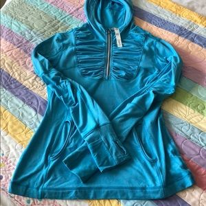 Lululemon - long sleeve hoodie- aqua blue